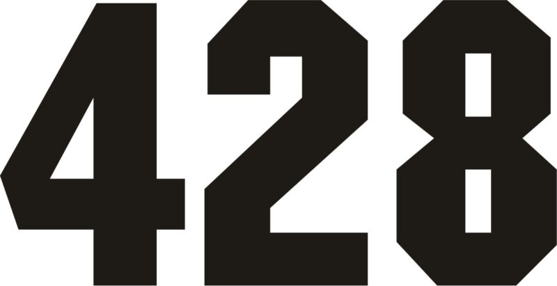 Reflective Firefighter Numbers for Helmet
