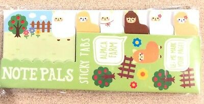 Ooly Note Pals Sticky Tabs Alpaca Farm Homework Bookmark Notes Office New