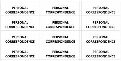 300 -custom Personal Correspondence Center Aligned Address Labels 1 X 2-58