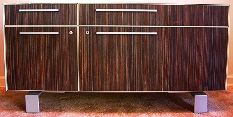 CONTEMPORARY WATSON MIRO CREDENZA THERMALLY FUSED METAL LAMINAT MODERN ARCHITECT