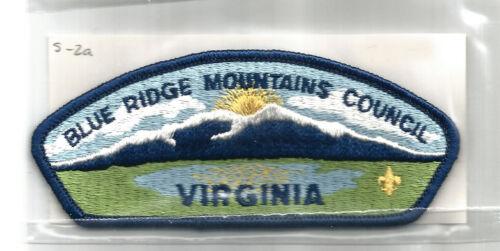 BLUE RIDGE MOUNTAINS S-2a CSP MINT Vintage VA Virgin. Boy Scout Council Patch-PB