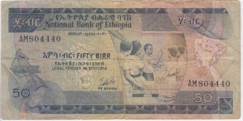 Ethiopia Banknote P. 33b-4440 50 Birr,  VG-F  WE COMBINE