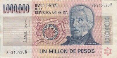 Argentina banknote P310 1 000 000  Pesos sig Lopez-Gonzalez del Solar pfx B, VF comprar usado  Enviando para Brazil