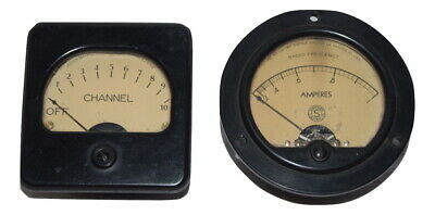 Simpson 35-s Radio Frequency Amperes Weston Electrical 301 Channel Panel Meter