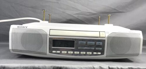 Sony ICF-CD513 White Under Cabinet AM/FM Radio CD Player - Tested & Working