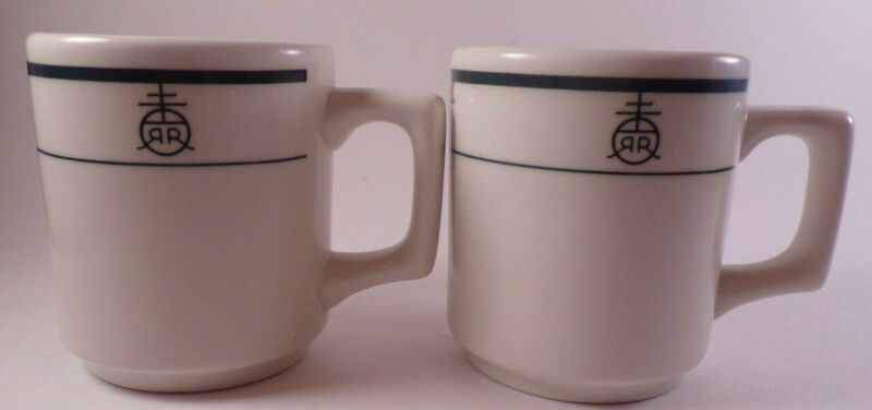 Buffalo China RR Insignia Restaurant Ware Coffee Cups Mugs Set of 2