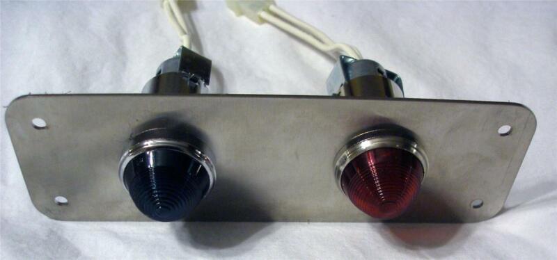 Red/Green Light Panel - 4-LED Cluster Bulbs - 84 VDC / Lamp Lens Cap Assemblies