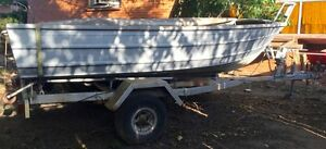 13ft Aluminium Tinny with Trailer, Safety gear, Winch, Anchor Darra Brisbane South West Preview