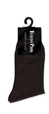 NEW Boys Nylon Brown Large 9-11 Tuxedo Formal Dress Socks Formal Hosiery TUXXMAN