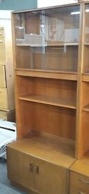 SALE NOW ON!! Retro G Plan Display Cabinet With Shelves & Cupboard - Can Deliver For £19