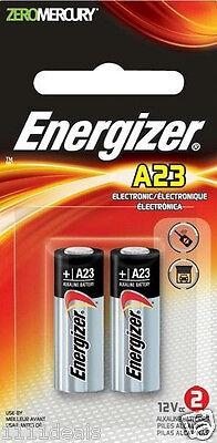 Energizer A23 Battery 12Volt 23AE 21/23 GP23 23A 23GA MN21 12v 2 Pack Sealed