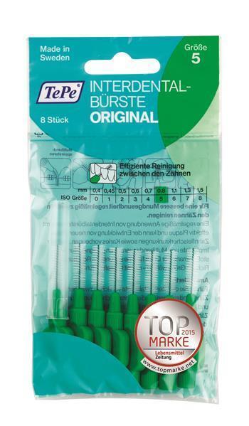 TePe Interdentalbürsten grün Orginal - 8 Stück Zahnzwischenraumbürste