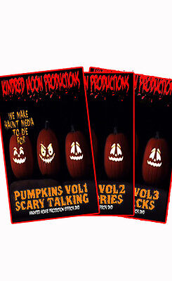 Singing Pumpkins Combo Pack Halloween Projection Effects DVD Vol 1,2 and - Halloween Projection 1