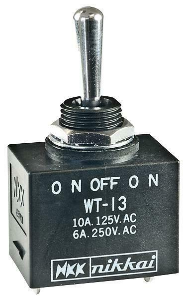 NKK SWITCHES-WT13S-SWITCH£¬TOGGLE£¬SPDT£¬10A£¬125VAC