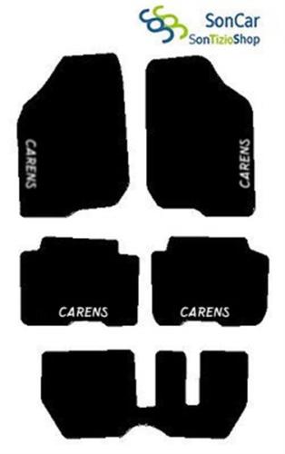 KIA CARENS DAL '06 7 POSTI CAMBIO MANUALE TAPPETI AUTO tappetini +4blok +4decori