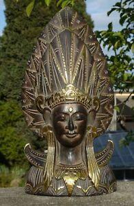 tolle Stand Maske Dewi Gold Feng Shui Deko Afrika Handarbeit Buddha Bali Maske38