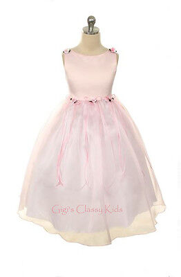 New Flower Girls Light Pink Dress Sizes 2-14 Fancy Easter Christmas Party USA