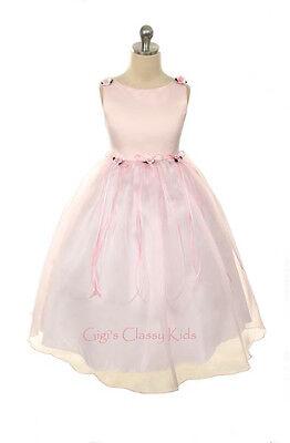 New Flower Girls Light Pink Dress Sizes 2-14 Fancy Easter Christmas Party USA](Flower Girl Dresses Light Pink)
