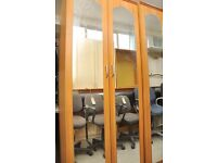 SALE NOW ON!! Wardrobe With Mirrors - Can Deliver For £19