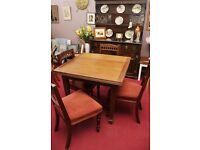 Xmas SALE NOW ON!! Edwardian Dining Table and 4 Chairs - Can Deliver For £19