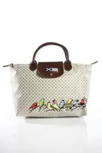 BRAND NAME BEIGE WHITE MEDIUM BAG - Excellent Condition