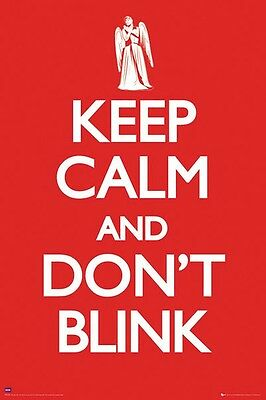 DOCTOR WHO POSTER ~ KEEP CALM DON'T BLINK 24x36 DR TV Weeping Angel Angels