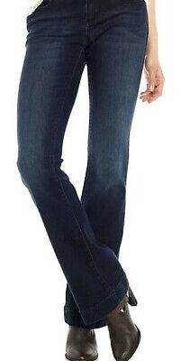 Earl Jeans Flare leg Dark Wash Stretch 2% woman's Petite 8,10,12,14,16 NEW 16 Flare Leg Jean