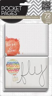 ME & MY BIG IDEAS POCKET PAGES THEMED CARDS HERE & NOW 72 PIECES - Theme Ideas