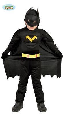 Costume Supereroe Bambino TG 7/9 Travestimento Batman Carnevale Nuovo