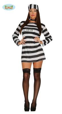 Costume Carcerata Detenuta Donna Carnevale Galeotta Halloween Addio al Nubilato