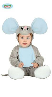 Costume Topolino TAGLIA 12/24 MESI Carnevale Topo Bebè Bambino Neonato Nuovo