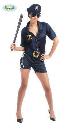 Costume Poliziotta Sexy Polizia Donna Carnevale Halloween Cosplay Nuovo Teatro