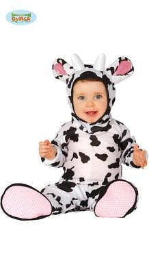 Costume Mucchina TAGLIA 12/24 MESI Carnevale Bebè Bambino Neonato Nuovo Mucca