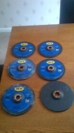 QTY 6 METAL CUTTING DISCS 180X6X22 MAX RPM 8500 80M/S