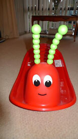 Kids rocker / rocking / Seesaw Red Caterpillar