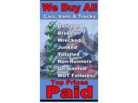 "♻️♻️ SCRAP MY CAR"" van, 4x4, truck, mot fails, non runners, spares or repairs, ♻️♻️"