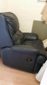 Real Leather Recliner Armchair