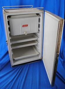 Vintage-Metal-Coleman-Upright-Cooler-Icebox-Ice-Box-Fridge-Camping