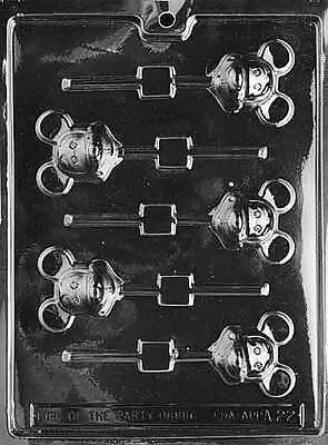 MICKEY MOUSE Lollipop Chocolate Mold Soap Candy Mould Party Favor m127](Mickey Mouse Lollipops)