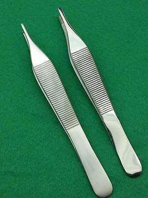 Set Of 2 Assorted Adson Tissue Adson Brown Forceps 4.75 Surgical Instruments