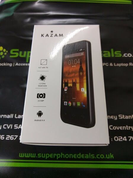 KAZAM TROOPER 440L4INCH ANDROID SMARTPHONEUNLOCKED1.3 QUADCORE2MP CAMERAin Coventry, West MidlandsGumtree - KAZAM TROOPER 440L 4INCH ANDROID SMARTPHONE UNLOCKED 1.3 QUADCORE 2MP CAMERA BRAND NEW WITH CHARGER RECEIPT WILL BE PROVIDED FOR TOTAL PEACE OF MIND TEL 02476 267847