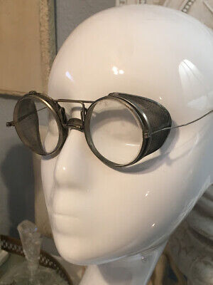 Antique Wellsworth Motorcycle Steampunk Goggles Safety Glasses c.1920's