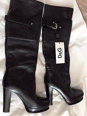 Dolce & Gabbana Women's Black Leather Tall Boot ITA 40 NWT
