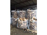 Logs/firewood for sale. Cubic metre bags of seasoned softwood