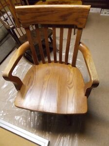 Vintage Solid Oak Office Chair.