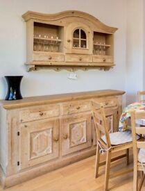 Hardwood sideboard set