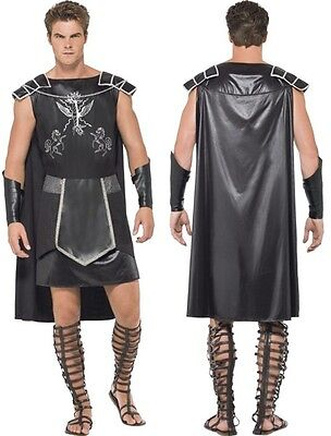 Men's Fever Male Dark Gladiator Fancy Dress Costume Spartacus Russell Crowe Stag