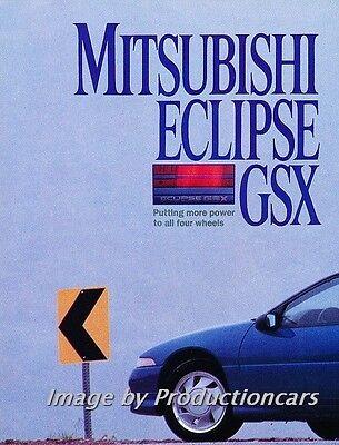 Eclipse Car Review - 1989 Mitsubishi Eclipse GSX Original Car Review Report Print Article J775
