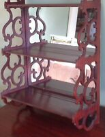 Beautiful solid wood shelf with mirror