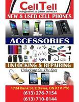 CELPHONE REPAIRS. UNLOCK. BUY/SEL NEW USED CELPHONE STORE OTTAWA